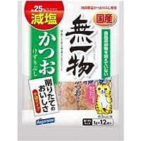 (まとめ)無一物 減塩かつお けずりぶし 1g×12袋【×30セット】【ペット用品・猫用フード】