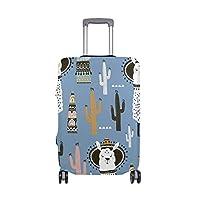 スーツケースカバー 伸縮素材 傷から保護 盗難防止 防塵 おしゃれアルパカ S/M/L/XL サイズ キャリーケース キャリーバッグ 洗える 国内 海外旅行 便利