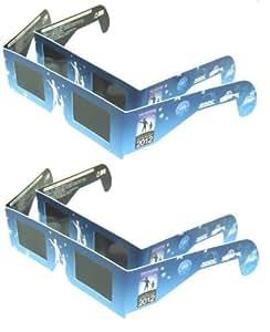 日食グラス 4個セット【日食観測メガネ】