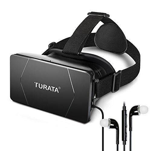 3D VRゴーグル メガネ VR BOX スマホゴーグル 頭部装着 3D映像効果 仮想現実 3.5 ~ 6.0インチの スマートフォン対応