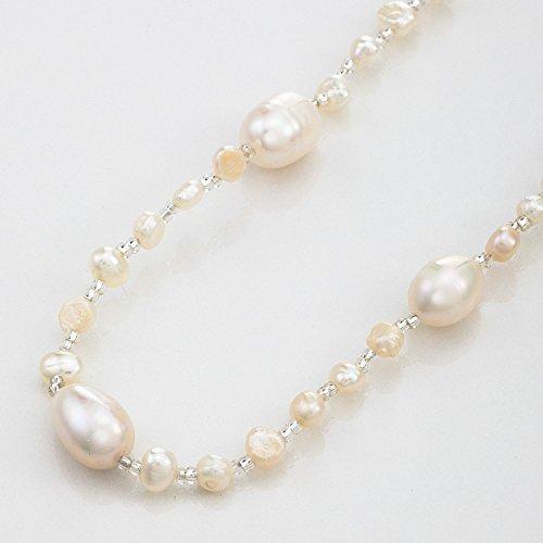 Strength そろそろ本物志向 淡水パール ネックレス (120cm) 淡水 真珠 首飾り パール アクセサリー レディース (ホワイト(白))