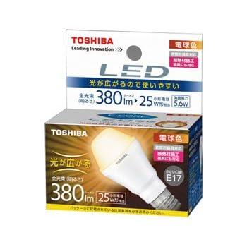東芝 E-CORE(イー・コア) LED電球 ミニクリプトン形 5.6W (光が広がるタイプ・密閉形器具対応・断熱材施工器具対応・口金直径17mm・小型電球25W相当・380ルーメン・電球色)LDA6L-G-E17/S