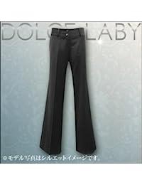 (ドルチェルビ) DOLCE LABY レディース スーツ ヒップハングバギーワイドパンツ 単品生地:12.ブラック太スト(M27216/TK)