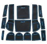 SUBARU XV 専用設計 青 インテリア インナー ノンスリップマット ドア ポケット ドリンクホルダー 滑り止め スバル