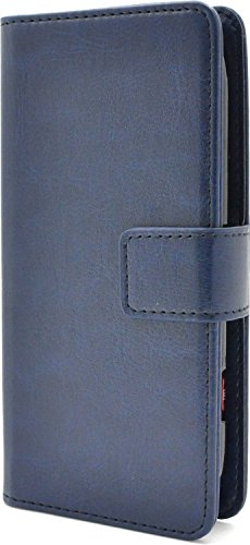 PLATA らくらくスマートフォン3 F-06F ケース 手帳型 カラー レザー スタンド ケース ポーチ 手帳 カバー 【 ブルー 青 あお blue ぶるー 】 DF06F-77BL