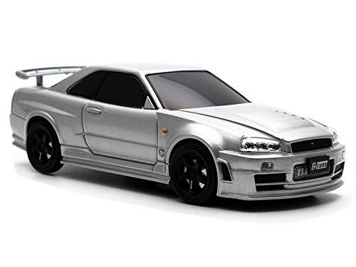 車型モバイルバッテリー 日産GT-R R34 NISMO Z Tune 4500mAh シルバー