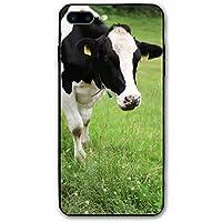 乳牛の牛 Apple Iphone 7/8 Plus 携帯ケース はらじゅく カップル用カバー 電話 反落下 新しい 3D印刷 黒い 個性 男女兼用 つうよう 贈り物 5.5インチ 7P 8P