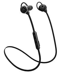 APlay ワイヤレス イヤホン 音声アシスタント ハンズフリー通話 Android対応 ブラック NA1