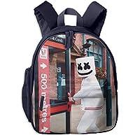 WXDNKYCH マシュメロ Marshmello 子供 リュックサック キッズ バッグ 鞄 小学生 幼稚園 保育園 遠足 こども 通園バッグ Backpack 子供用リュック かわいい スクールバッグ バックパック 男の子 女の子