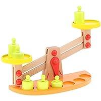 KESOTO ウッド製 数学 教育玩具 6個ウエイト付き DIY バランスゲーム バランススケール