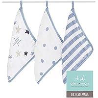 aden + anais (エイデンアンドアネイ) 【日本正規品】 ウォッシュクロスセット 3枚セット rock star 3pack-3050