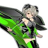ハチプロデザイン カワサキたんA 2015 ステッカー グリーン hachipro design