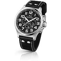 TW Steel Pilot Chronograph Black Leather Mens Watch TW413