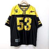 阪神タイガース 赤星憲広 #53 ゲームシャツ F フリーサイズ XL相当 黄色×黒 半袖 メンズ LL 特大 大きいサイズ ユニフォーム