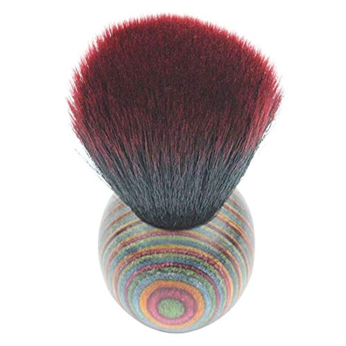 水銀の枠組み込むMEI1JIA QUELLIA最高品質の色ウッドエスニックスタイルフェイスパウダー化粧ブラッシャーブラシ