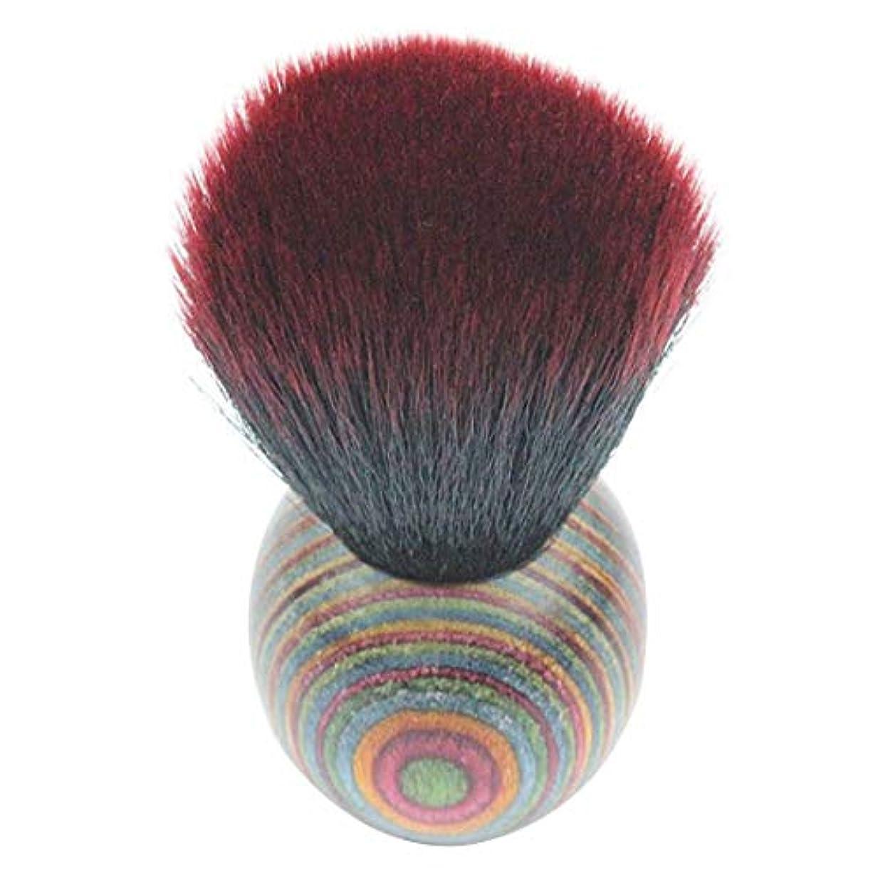 キャンプ入る専門用語MEI1JIA QUELLIA最高品質の色ウッドエスニックスタイルフェイスパウダー化粧ブラッシャーブラシ