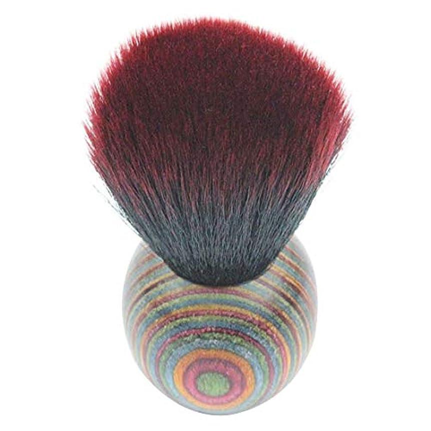 化学者フェードアウト編集者MEI1JIA QUELLIA最高品質の色ウッドエスニックスタイルフェイスパウダー化粧ブラッシャーブラシ