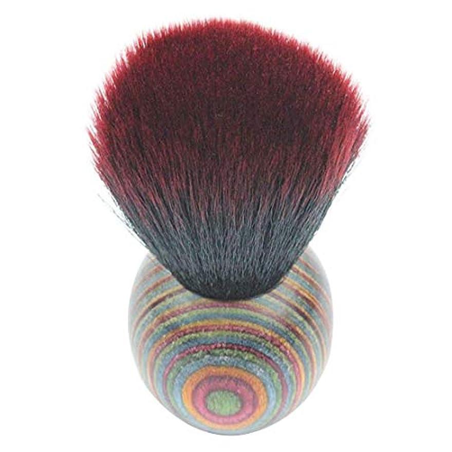 無人引き渡すパンサーMEI1JIA QUELLIA最高品質の色ウッドエスニックスタイルフェイスパウダー化粧ブラッシャーブラシ