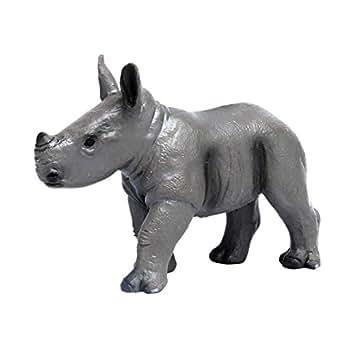 プラッツ My Little Zoo シロサイ (子) 全長約75mm 彩色済み動物フィギュア MJP387247