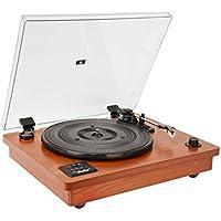 HOFEINZ 天然木材 スピーカー内蔵 レコードプレーヤー/Bluetooth プレーヤー/MP3録音プレーヤー