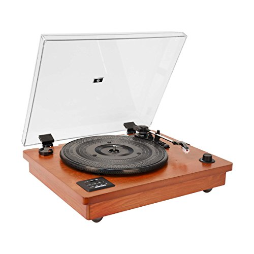 HOFEINZ 天然木材ス ピーカー内蔵 レコードプレーヤー/Bluetooth プレーヤ/MP3録音プレーヤ