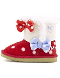 [ディズニー] Disney 女の子 男の子 ベビー 子供靴 運動靴 通学靴 ミニーマウス ベビー ボアブーツ DS7179
