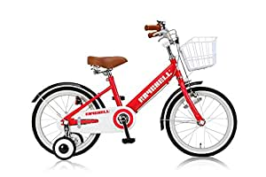 RayChell(レイチェル) 子ども用自転車 18インチ KCL-18 前後フェンダー フロントバスケット付 フロントキャリパー/リアバンドブレーキ レッド 31061