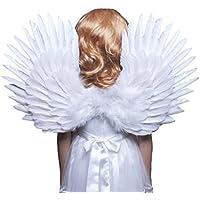 [ファッションウイング]FashionWings Children's White Feather Angel Wings Duo Use Pointing up or Down 428MW [並行輸入品]