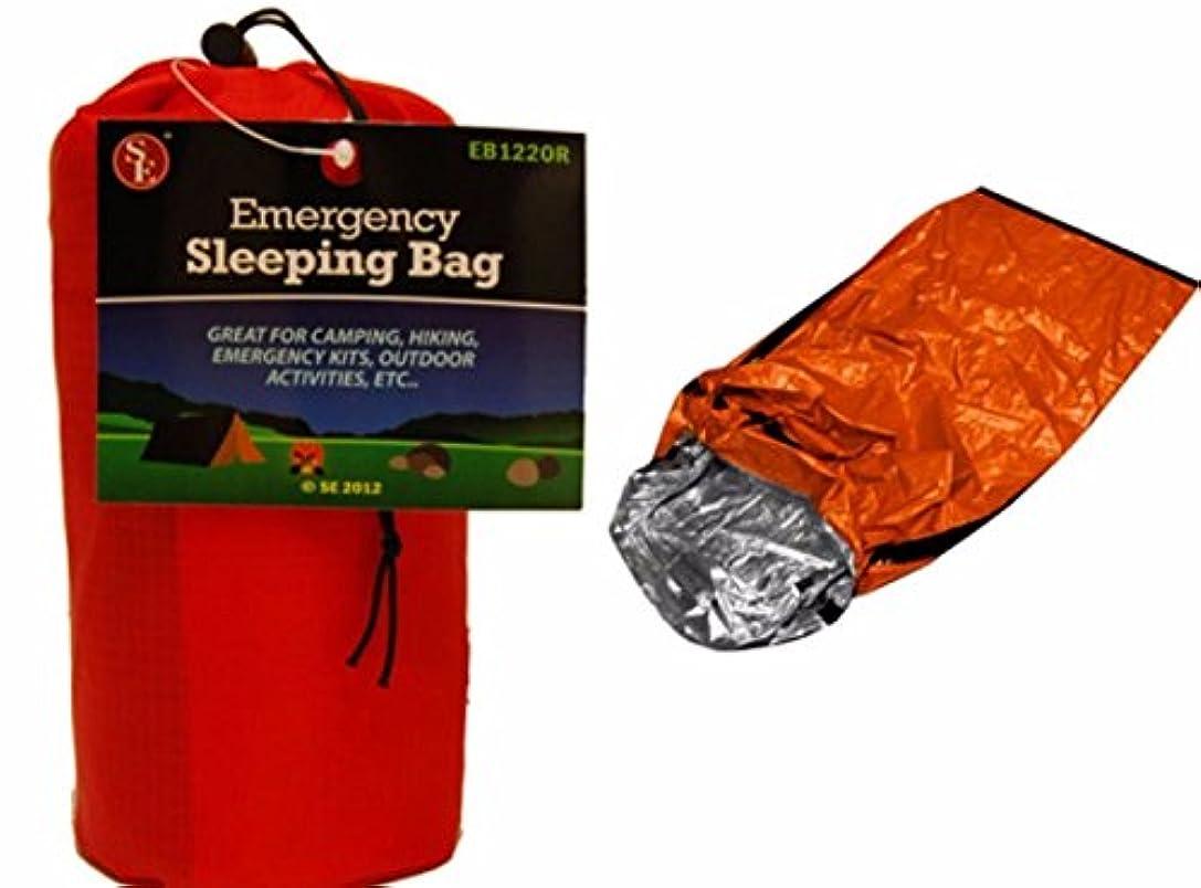 ガロン動機八百屋さん緊急時用アルミ製寝袋 キャンプ アウトドア シェルター テント 折りたたみ式 サバイバル 84インチX36インチ オレンジ色 アルミメッキPEが体温を反射