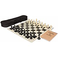 Value Club Carry-All Chess Set Package Black & Ivory Pieces - Black by The Chess Store [並行輸入品]