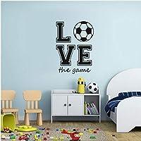 Wsqyf ルームの装飾愛ゲームサッカーウォールステッカービニールアップリケ子男の子Diyの家の装飾防水デカール44×31センチ