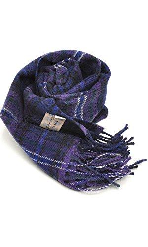 (ロキャロン) Lochcarron of scotland英国スコットランド製 ラムズウール100% タータンチェックマフラー 英国王室ご愛用 (スコットランドフォーエバー)