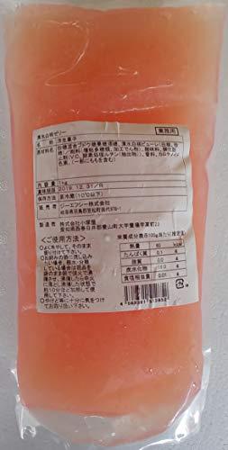 清水 白桃 ゼリー 1kg 冷蔵 袋のまま湯煎してお好みの器に移して冷蔵庫などで冷やして出来上がりです。
