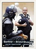 ポスター バンクシー banksy bristol museum poster 額装品 ウッドベーシックフレーム