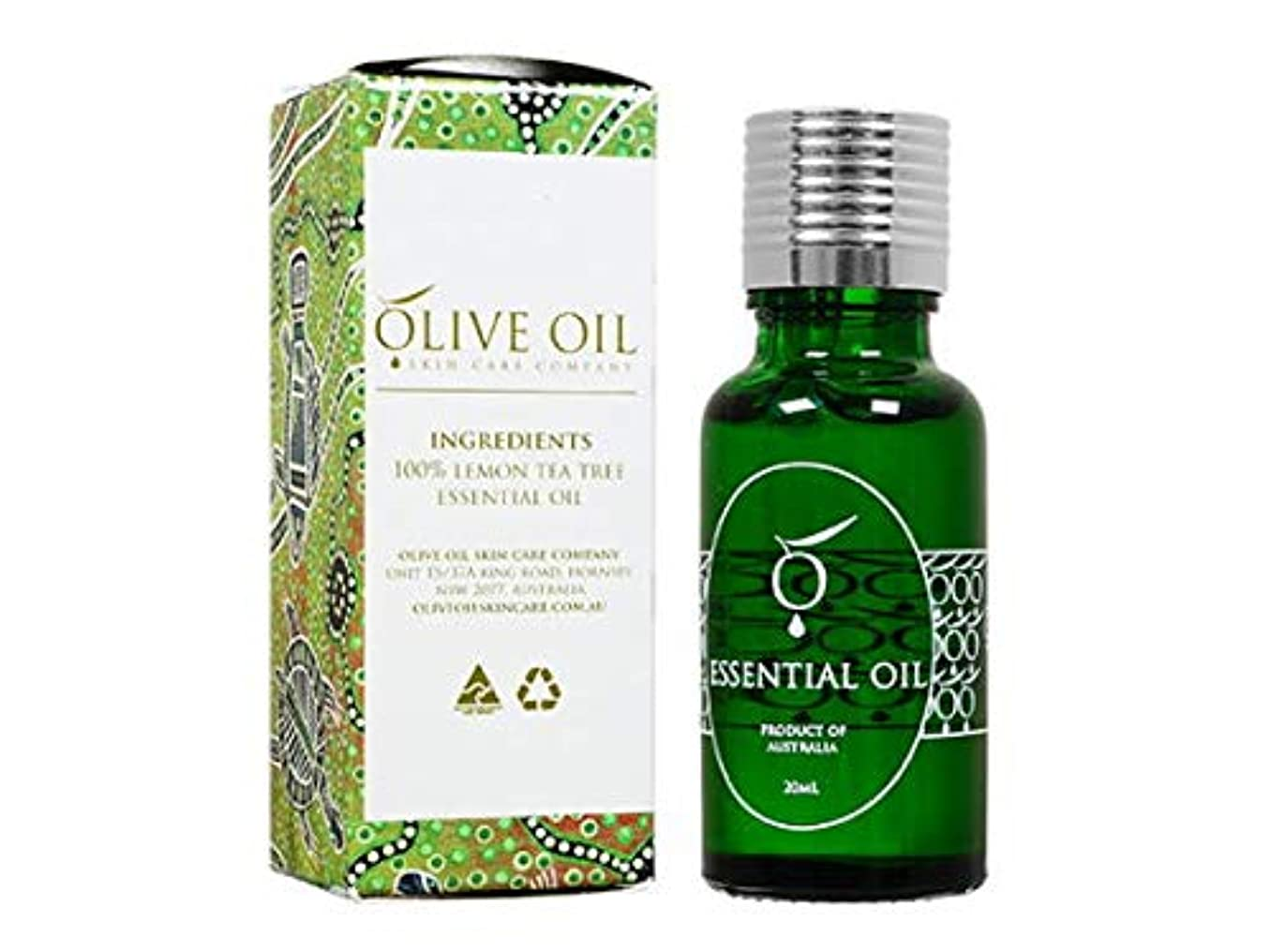 店主費用立法OliveOil エッセンシャルオイル?レモンティーツリー 20ml (OliveOil) Essential Oil (Lemon Tea Tree) Made in Australia