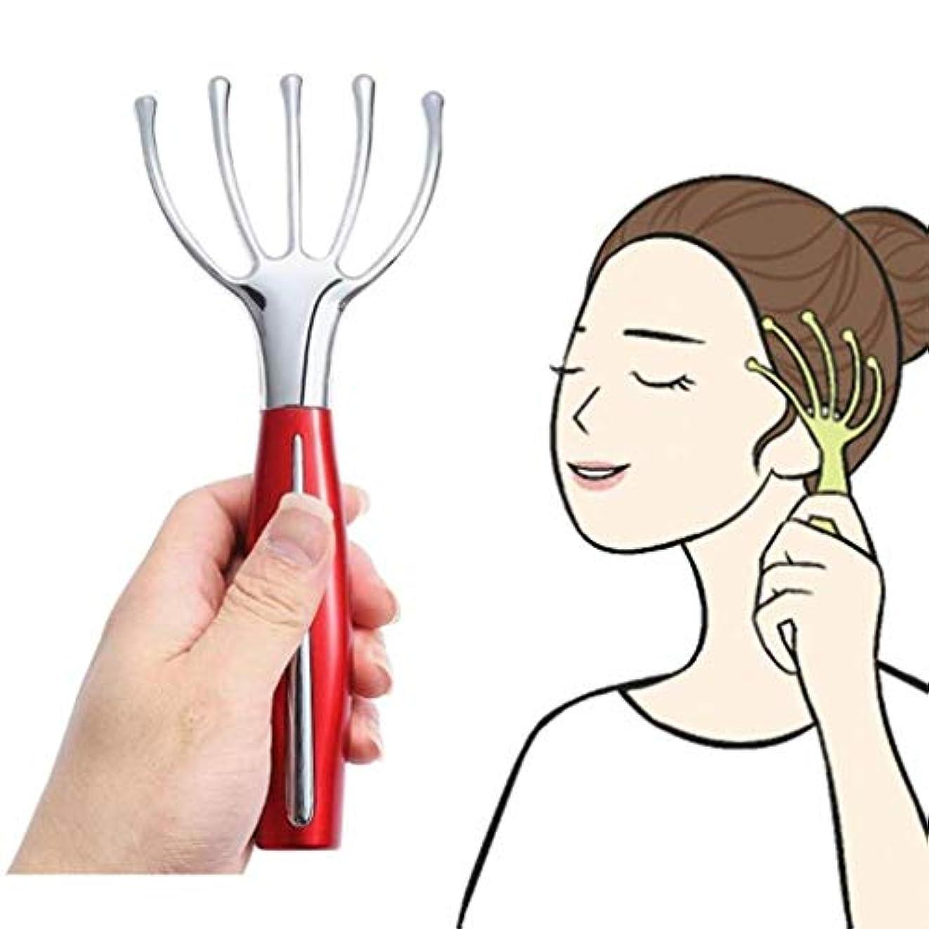 深く韓国語他にヘッドマッサージャー - 電動ハンドヘルドタコスカルプ振動電動マッサージャー - ヘッドスクレーピングヘッドとネックマッサージツールディープリラクゼーションとストレス解消、トリートメントの増加