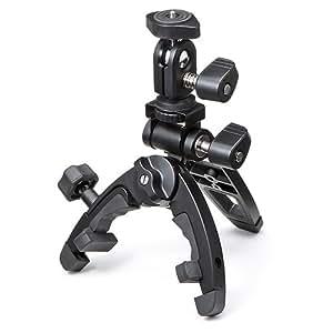 サンワダイレクト カメラ三脚 軽量 コンパクト 折りたたみ CX-3000 マルチクランプポッド 200-CAM002