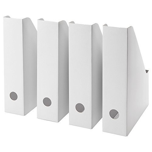 IKEA FLUNS 80324133 マガジンファイル ホワイト 4 ピース