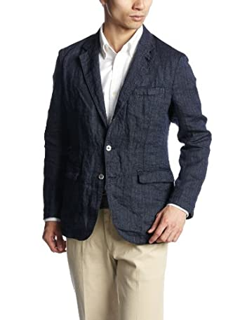 Washed Linen 3-button Jacket 117-01-1970: Navy