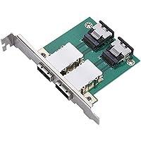 Richer-R デュアルミニSAS 36P-26P SFF8087 - SFF-8088サーバーアダプターボード 8088-8087コンバーターPCIブラケット