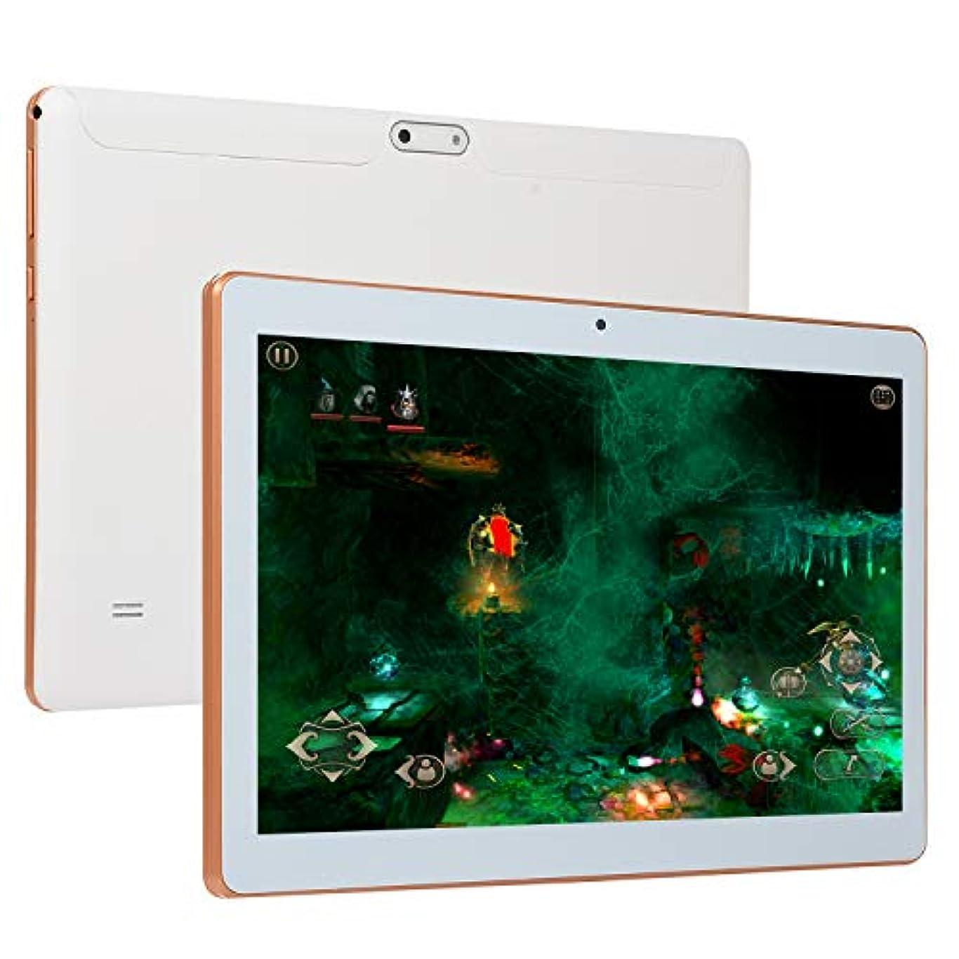 機動療法球状ACHICOO タブレットPC 10.1インチ HDゲームタブレット 10中心アンドロイド8.0 GPS 3G Wifi 二重カメラ コンピュータPC 白 米国のプラグ