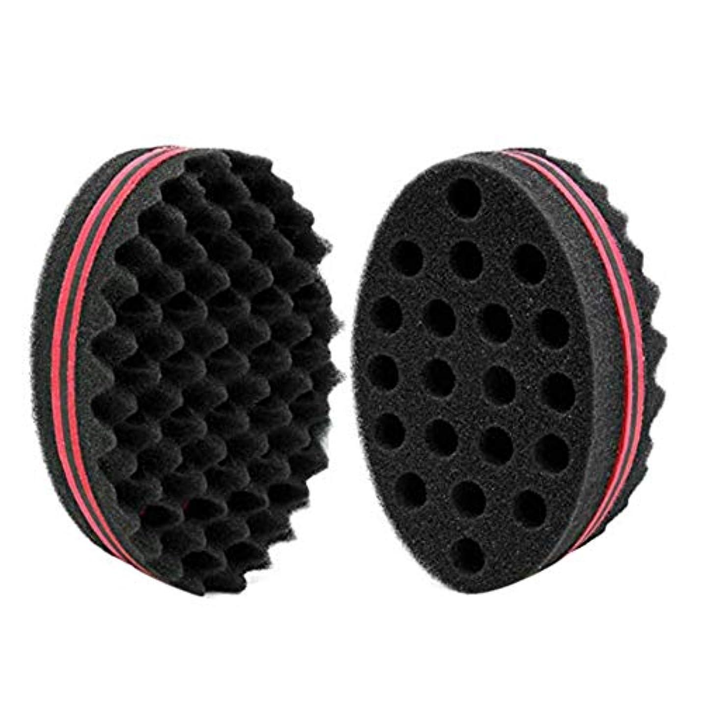 大気黒板ハブカールヘアスポンジグローブブラシバーバー波ツイストのカーリーヘアスタイリング マジックビューティーツール