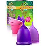 Talisi Soft Feminine Menstrual Cups – Reusable Menstruation Cup – Flexible Period Cup Set with Sterilizing Menstrual Cup and Carry Bag - Alternative to Tampons and Pads - Regular and Heavy Flow