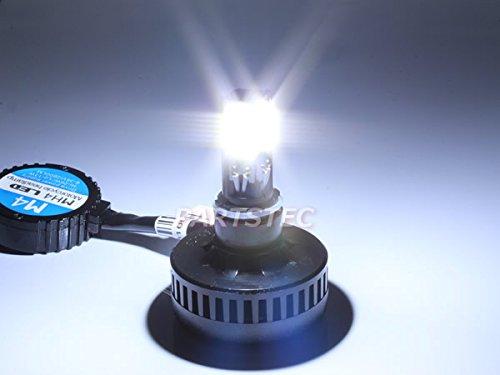 H4 H4R1 PH7 PH8 H6 バイク LEDヘッドライト COB LED 4面発光 冷却ファン内蔵 アドレスV100 V125 他 直流専用