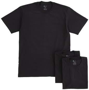 (ヘインズ)Hanes 【3枚組】クルーネックTシャツ HBJ1-001N-090 090 ブラック M