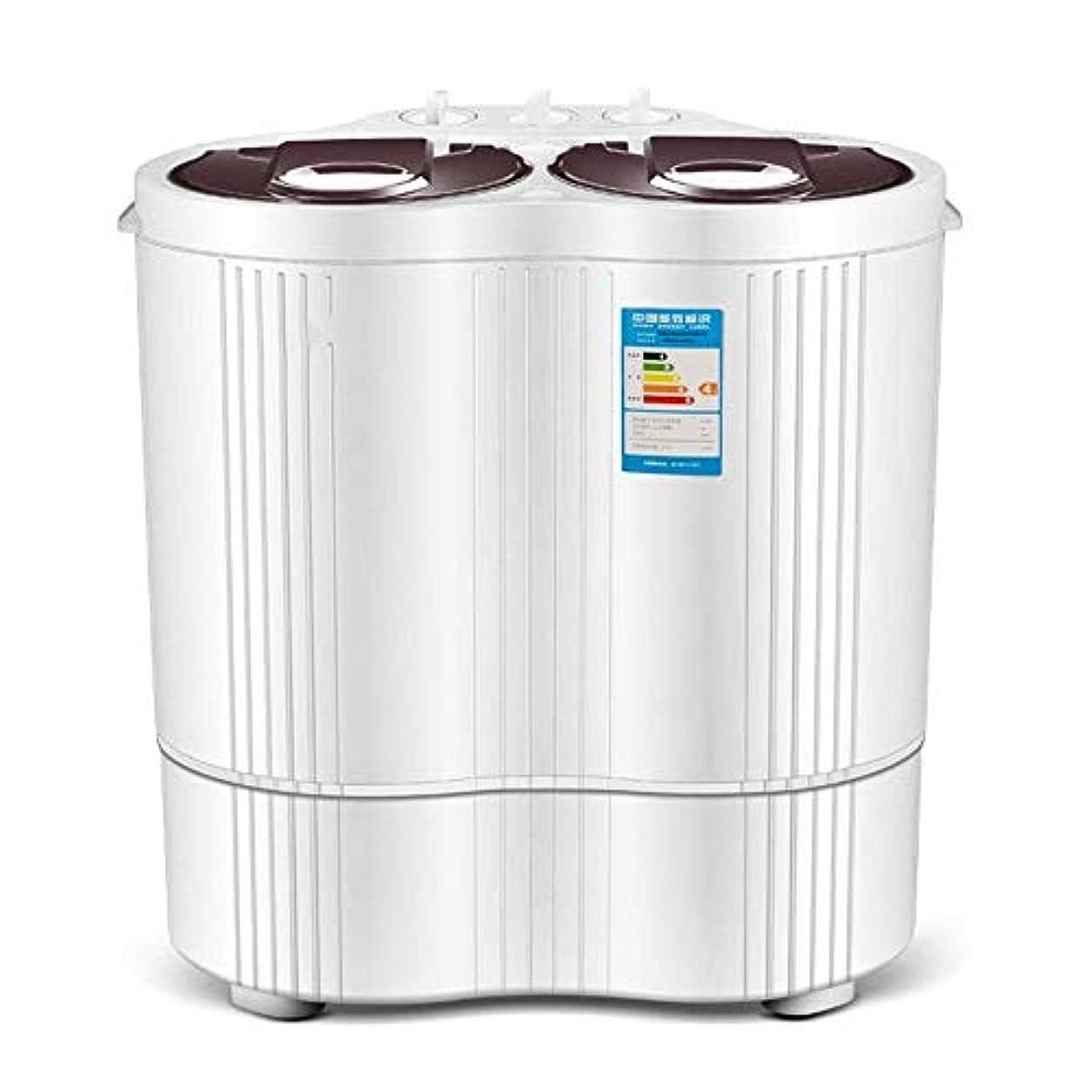 反発覆すナラーバーJJSFJH ベッドルーム寮生活のための適切なコンパクトなツインタブポータブルミニ洗濯機 (Color : Brown)