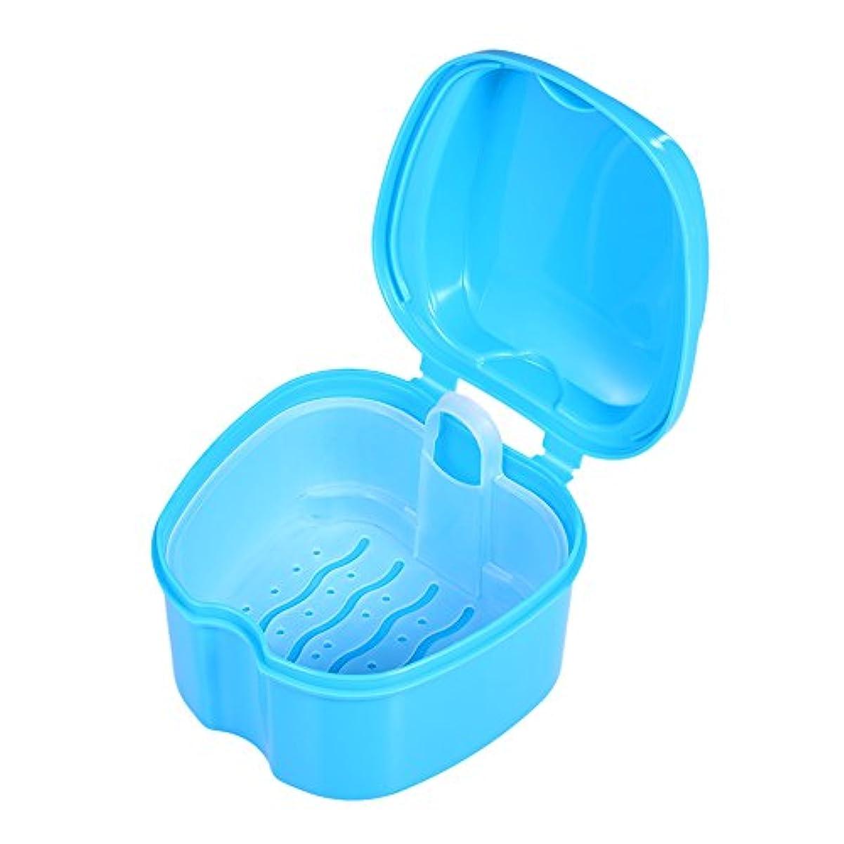 Decdeal 歯のボックスケース 偽の歯のストレージボックス 歯のクリーニングコンテナ リンスバスケット リテーナーアプライアンスホルダートレイ