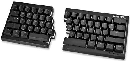 MiSTEL BAROCCO MD600分離式 メカニカルキーボード RGBバックライトモデル 英語配列 62キー CHERRY スピードシルバー軸 ブラック MD600-SUSPDAAT1