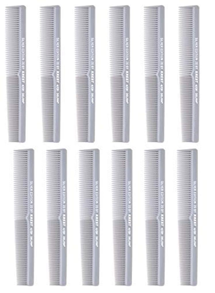 ホイットニーブラウザアストロラーベ7 In. Barber Comb.?Thermal Combs. Silver Edition All Purpose Styler Hair Cutting Comb #20. 1 Dz. [並行輸入品]