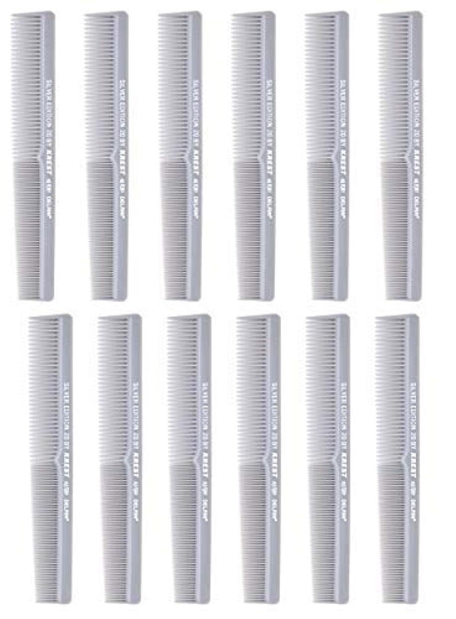 お香ラインナップバージン7 In. Barber Comb.?Thermal Combs. Silver Edition All Purpose Styler Hair Cutting Comb #20. 1 Dz. [並行輸入品]
